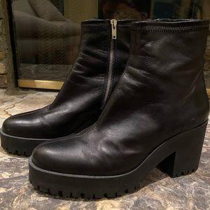 Zara Chunky Heel Ankle Boots